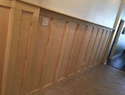 During Wood Paneling Wainscot
