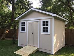 Custom Built Shed Painted